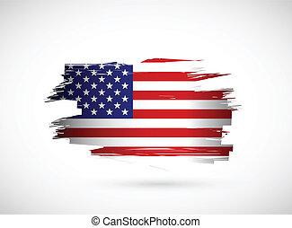 Kreative Tinte spritzt die amerikanische Flagge