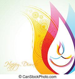 Kreativer Diwali-Hintergrund