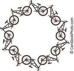 kreis, fahrrad