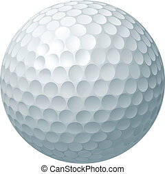 kugel, golfen, abbildung