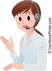 Kundenservice-Frau lächelnd