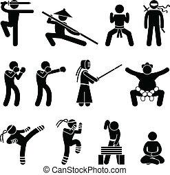 Kung-Fu-Kampfkunst Selbstverteidigung.