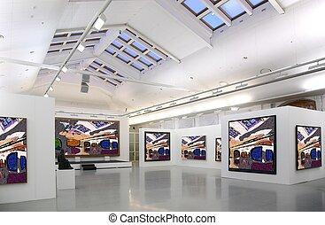 Kunstgalerie 2. Alle Bilder haben nur ein ganzes Foto eingefädelt