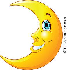 Lächelnder Mond
