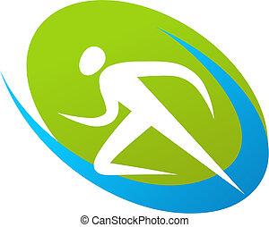Läufer Icon / Logo