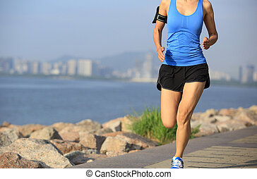 Läufer läuft.