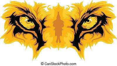 Löwenaugen Maskottchenvektorgrafik