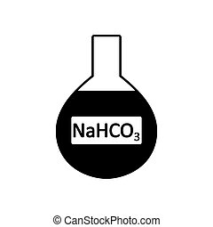 laboratorium, glas, natrium, bicarbonate.