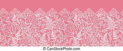 Lace hinterlässt horizontale, nahtlose Hintergrundgrenze