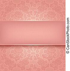 Lace Templat, Zierde, rosa Blumen Hintergrund