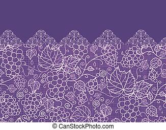 Lace-Trauben-Reben horizontal nahtlos im Hintergrund