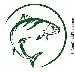 Lachsfisch.