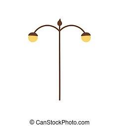 lampe, licht, ikone, pfahl, straße