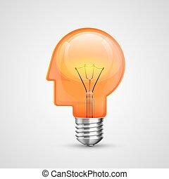 Lampenkopf Konzept kreative Idee
