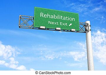 landstraße zeichen, rehabilitation, -