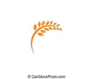 Landwirtschaftsweizen Logo Template, gesundes Lebenszeichen Vektor-Icon.