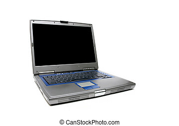 Laptop Notizbuch über weiß