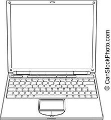 Laptop-Opline-Vektor-Illustration