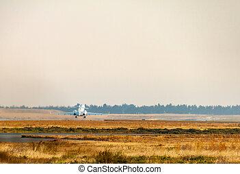 Larnaca International Airport mit Privatjet in der Entfernung.