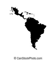 latein, landkarte, amerika