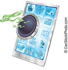 Lautsprecher-Icon-Telefon-Konzept