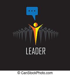 Leader, Führung, Gewinner, Erfolg - Vektor-Icons.