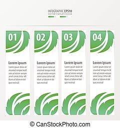 Leaf Stil auf Banner grün Farbe.