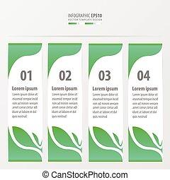 Leaf Style Banner Design grüne Farbe.