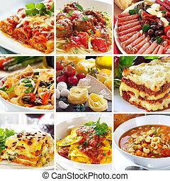 lebensmittel, collage, italienesche