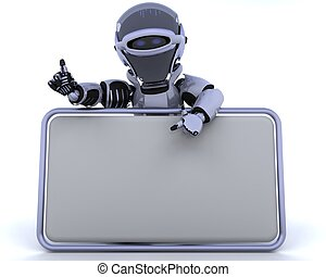 leer, roboter, zeichen