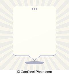 Leere, rechteckige Redeblasen mit 3 Lochen. Weißer, leerer Textballon mit dreifacher Punktion oben. Kreative Hintergrundräume für Ankündigungen und Clippings.