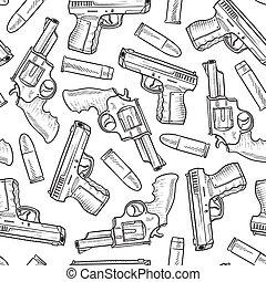 Leichte Handfeuerwaffen im Hintergrund