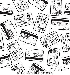 Leichte Kreditkartenhintergrund