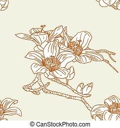 Leichte Tapete mit Orchideenblumen
