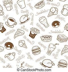 Leichte Tapete mit schnellem Essen