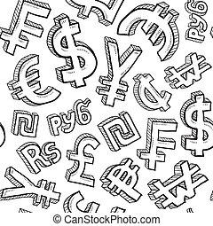 Leichte Währungssymbol Hintergrund