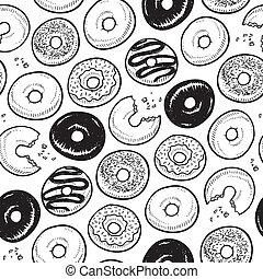 Leichter Donut-Hintergrund