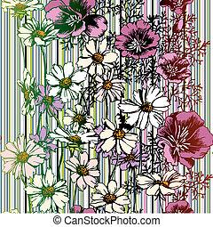 Leichtes Blumenmuster
