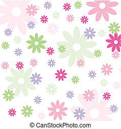 Leichtes Blumenmuster, Tapete
