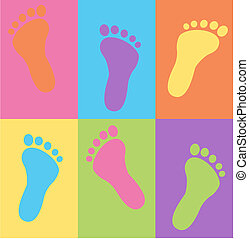 Leichtes Fußmuster