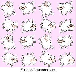 Leichtes Lammmuster