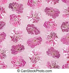 Leichtes Muster mit Blumen Hintergrund