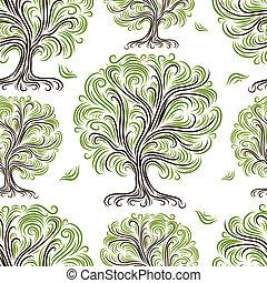 Leichtes Muster mit Kunstbäumen für dein Design