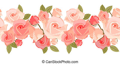 Leichtes Rosenmuster
