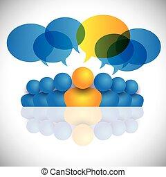 Leitendes Konzept & Führungspersönlichkeit oder Führungspersönlichkeiten von Manager & Büropersonal.