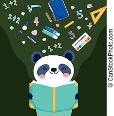 lesend buch, panda