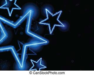 Leuchtender neonstarter Hintergrund
