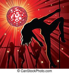 Leute tanzen im Nachtclub.