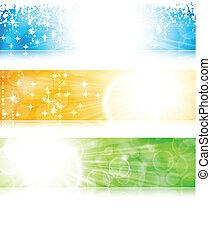 Lichtstrahl-Banner bereit