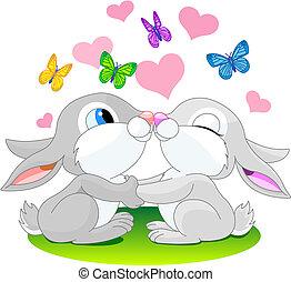 liebe, kaninchen